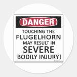 Danger Flugelhorn Sticker