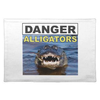 danger gator sign cool placemat