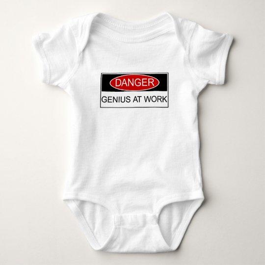 Danger Genius at Work Baby Bodysuit