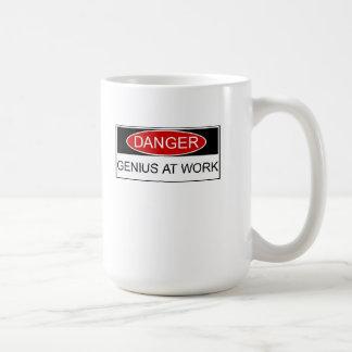 Danger Genius at Work Coffee Mug