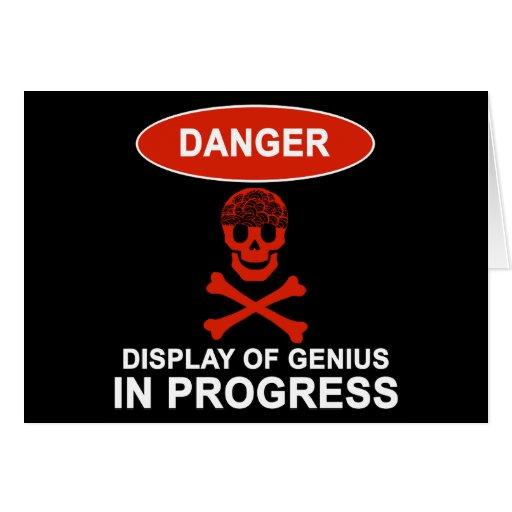 Danger Genius Greeting Card