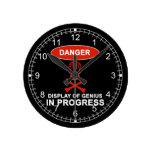 Danger Genius Round Clock