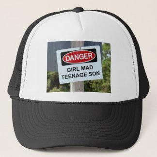 Danger Girl Mad Teenage Son Sign Trucker Hat
