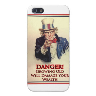 Danger Growing Old Uncle Sam Poster iPhone 5 Cover