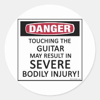 Danger Guitar Classic Round Sticker