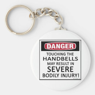 Danger Handbells Basic Round Button Keychain