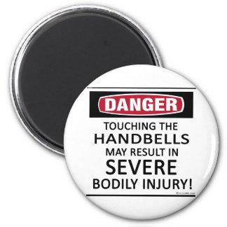 Danger Handbells Fridge Magnets