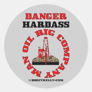 Danger Hardass Company Man,Oil Field Sticker
