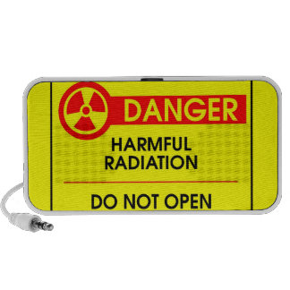 Danger, harmful radiation mini speakers