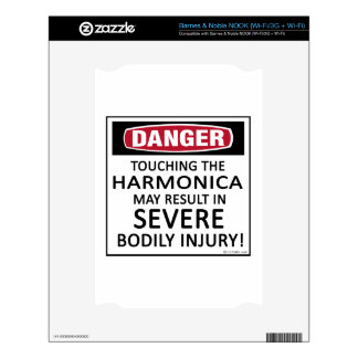 Danger Harmonica Decal For The NOOK