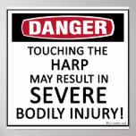 Danger Harp Poster