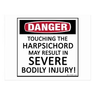 Danger Harpsichord Postcard