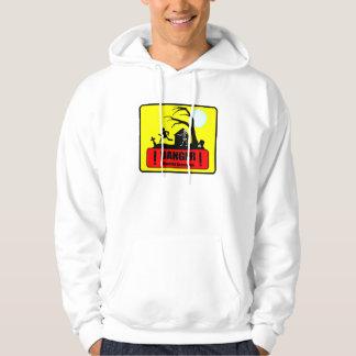 Danger: Haunted Graveyard - Hooded Sweatshirt