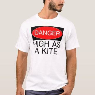 Danger - High As A Kite Funny Safety T-Shirt Mug