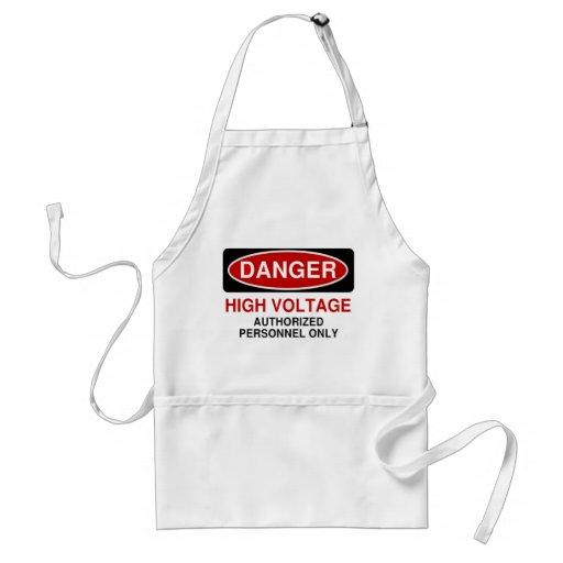 Danger High Voltage Adult Apron