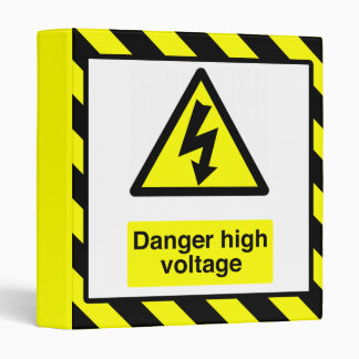 Danger High Voltage Binder