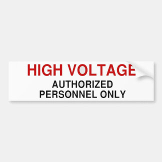 Danger High Voltage Bumper Sticker