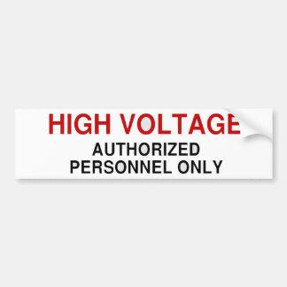 Danger High Voltage Car Bumper Sticker