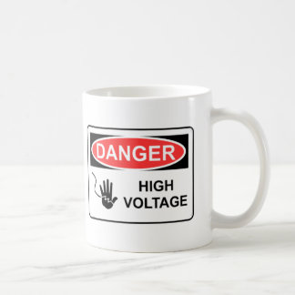 DANGER HIGH VOLTAGE COFFEE MUGS