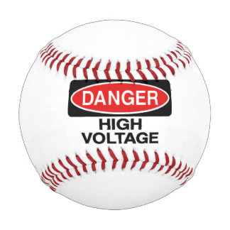 Danger High Voltage Hazard Sign Baseball
