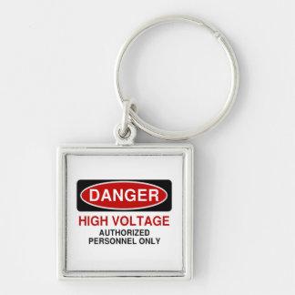 Danger High Voltage Keychain
