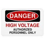 Danger High Voltage Magnets
