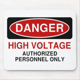 Danger High Voltage Mouse Pad