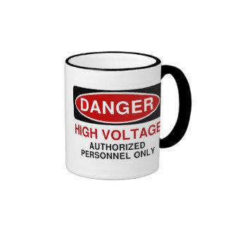 Danger High Voltage Ringer Coffee Mug