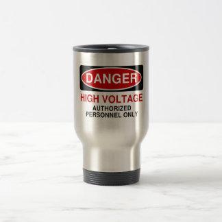 Danger High Voltage 15 Oz Stainless Steel Travel Mug