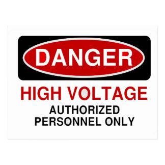 Danger High Voltage Postcard