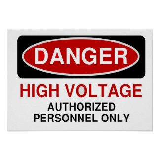 Danger High Voltage Posters