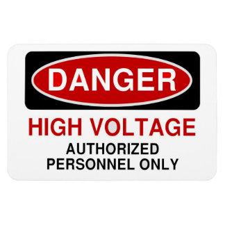 Danger High Voltage Rectangular Photo Magnet