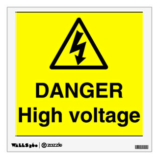 Danger High Voltage Sign Wall Decal