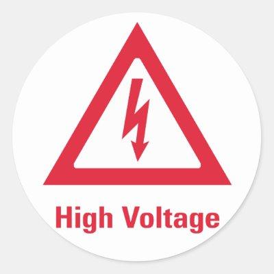 High Voltage Sticker Zazzle Com