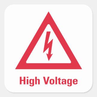 Danger High Voltage Symbol Square Sticker