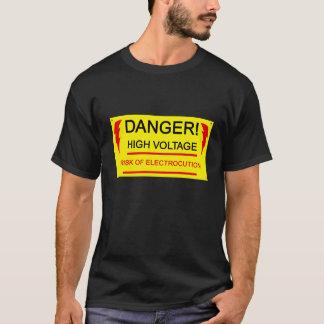 Danger, high voltage tee