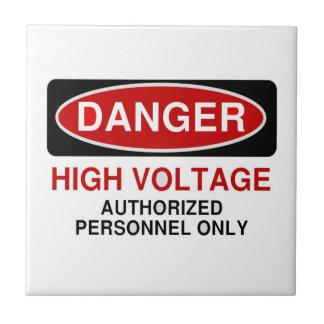 Danger High Voltage Tile