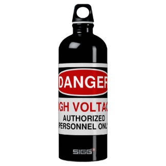 Danger High Voltage Water Bottle