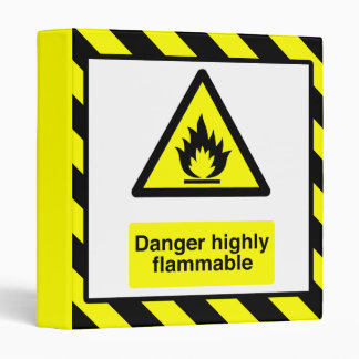 Danger Highly Flammable Binder