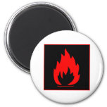 Danger Highly Flammable Warning Sign Chemical Burn 2 Inch Round Magnet