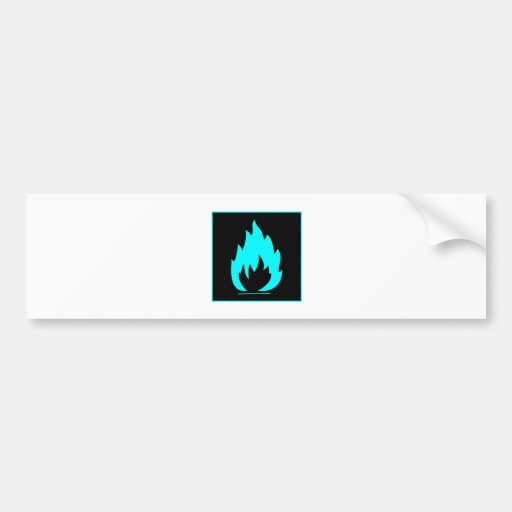Danger Highly Flammable Warning Sign Chemical Burn Bumper Sticker