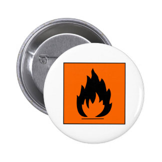 Danger Highly Flammable Warning Sign Chemical Burn Pins
