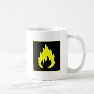 Danger Highly Flammable Warning Sign Chemical Burn Coffee Mug