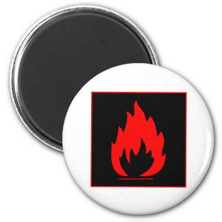 Danger Highly Flammable Warning Sign Chemical Burn Magnet