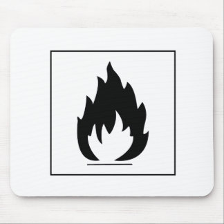Danger Highly Flammable Warning Sign Chemical Burn Mousepad
