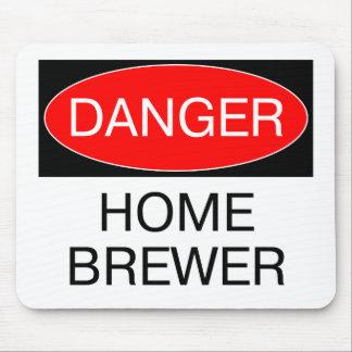 Danger - Home Brewer Funny T-Shirt Hat Mug Bag Mouse Pad