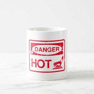 danger hot classic white coffee mug