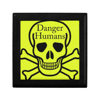 Danger humans keepsake box