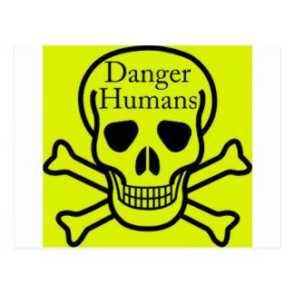 Danger humans postcard