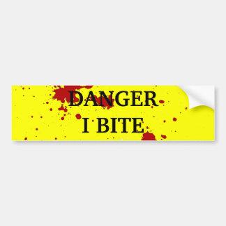 DANGER: I BITE! CAR BUMPER STICKER